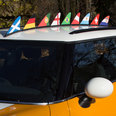 Magnetic flag for the car