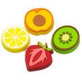 Fruit-shaped deco magnets, Set of 4
