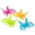 Deco magnets in the shape of butterflies, Set of 4