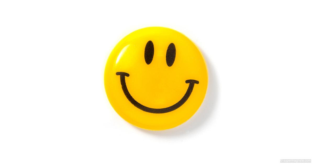 Magnet Smiley Yellow Fridge Magnet Smiley Supermagnete Dk