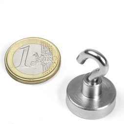 FTN-20, Hook magnet, Ø 20 mm, Thread M4, strength approx. 13 kg