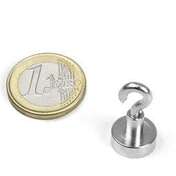 FTN-13, Hook magnet Ø 13 mm, thread M3, strength approx. 5 kg