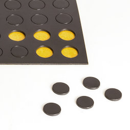 MS-TAKKI-04, Magnetic circles 10 mm, self-adhesive magnetic circles, 60 circles per sheet