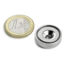 CSN-20, Countersunk pot magnet, Ø 20 mm, strength approx. 9 kg