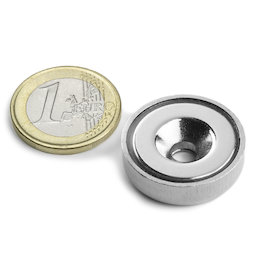 Countersunk pot magnet
