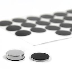 M-SIL-20, Silicone discs Ø 20 mm, self-adhesive, 36 per set