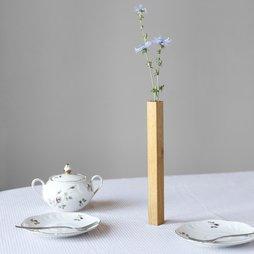 LIV-34, Magnetic vase Oak, vase made of oak wood, magnetic on metal plate, gift-wrapped