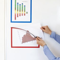 QMS-A4, Magnetic frame A4, to display notes, for whiteboards, cupboards, etc., A4 format