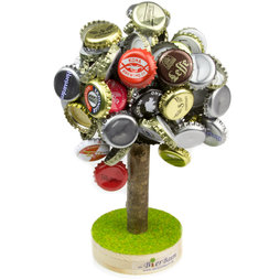 M-47, Beer tree large, magnetic beer cap collector, ideal party gift, holds up to 120 bottle caps