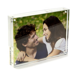 FRM-02, Picture frame 15 x 11${dec}5 cm, with magnetic catch, made of transparent acrylic glass, for portrait or landscape format