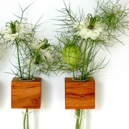 Practical magnetic wooden flower vase